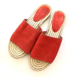 Coach coral leather slides 10